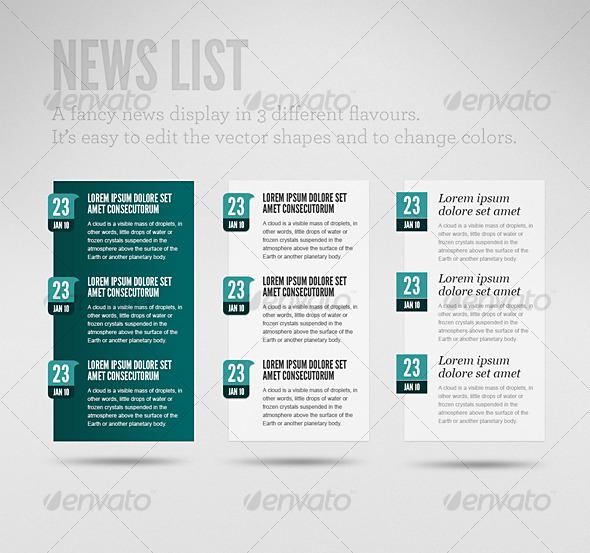 Clean News List - Miscellaneous Web Elements
