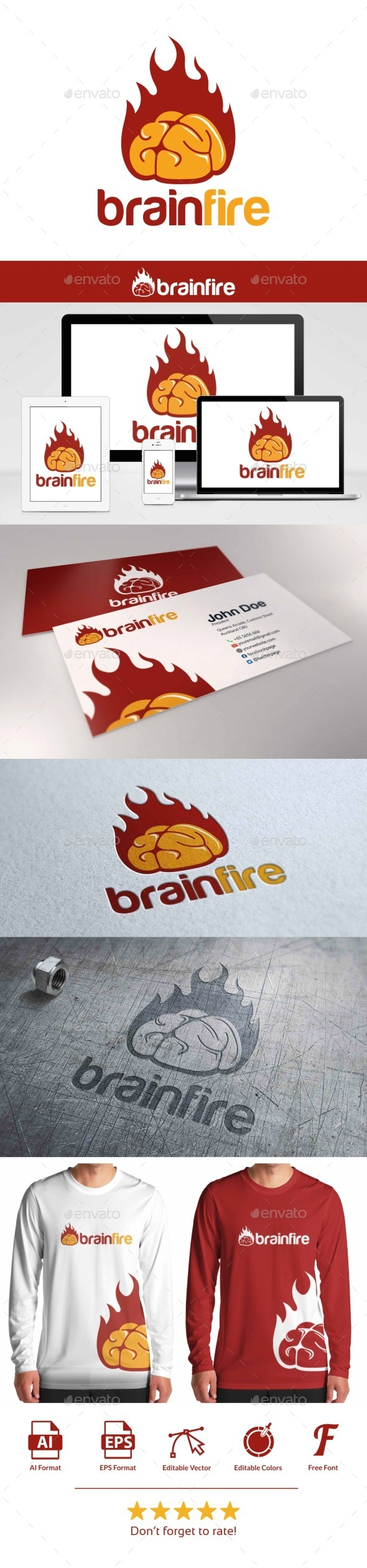 Brain Fire Logo - Objects Logo Templates