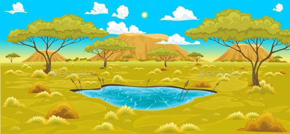 African Landscape.  - Landscapes Nature