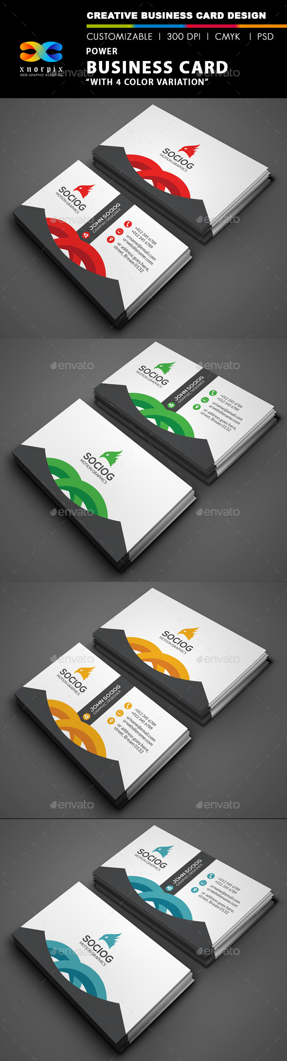 Power Business Card - Corporate Business Cards