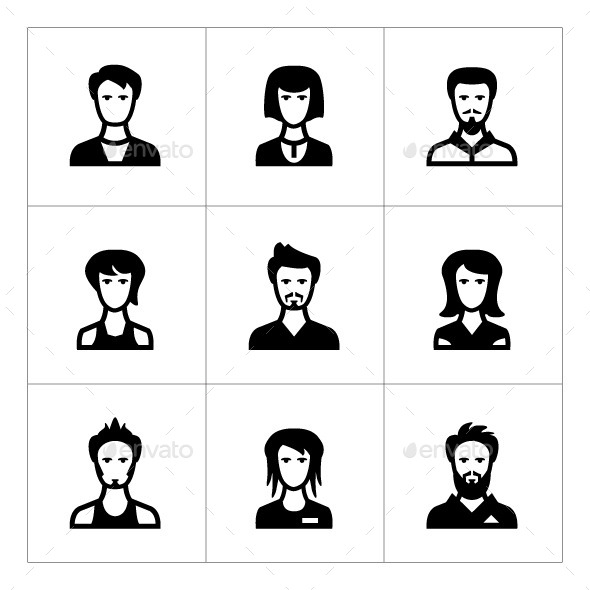 Set Icons of People - People Characters