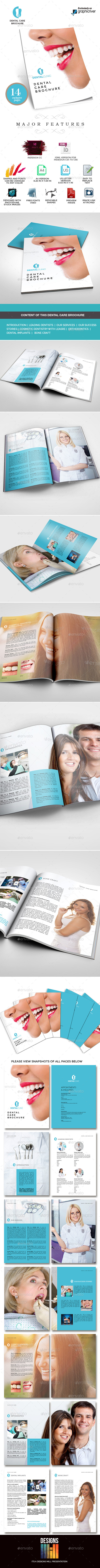 Dental Clinic Services or Care Brochure - Informational Brochures