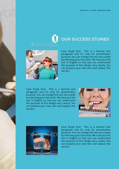 dental clinic services or care brochure by designsmill