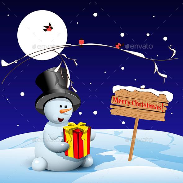 Christmas Snowman - Christmas Seasons/Holidays