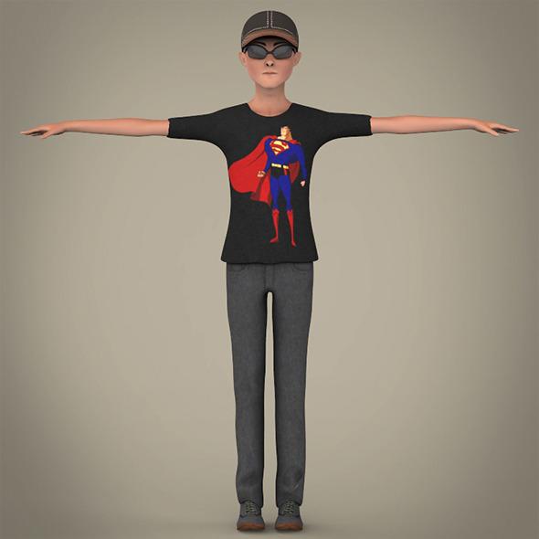 Handsome Cartoon Boy - 3DOcean Item for Sale