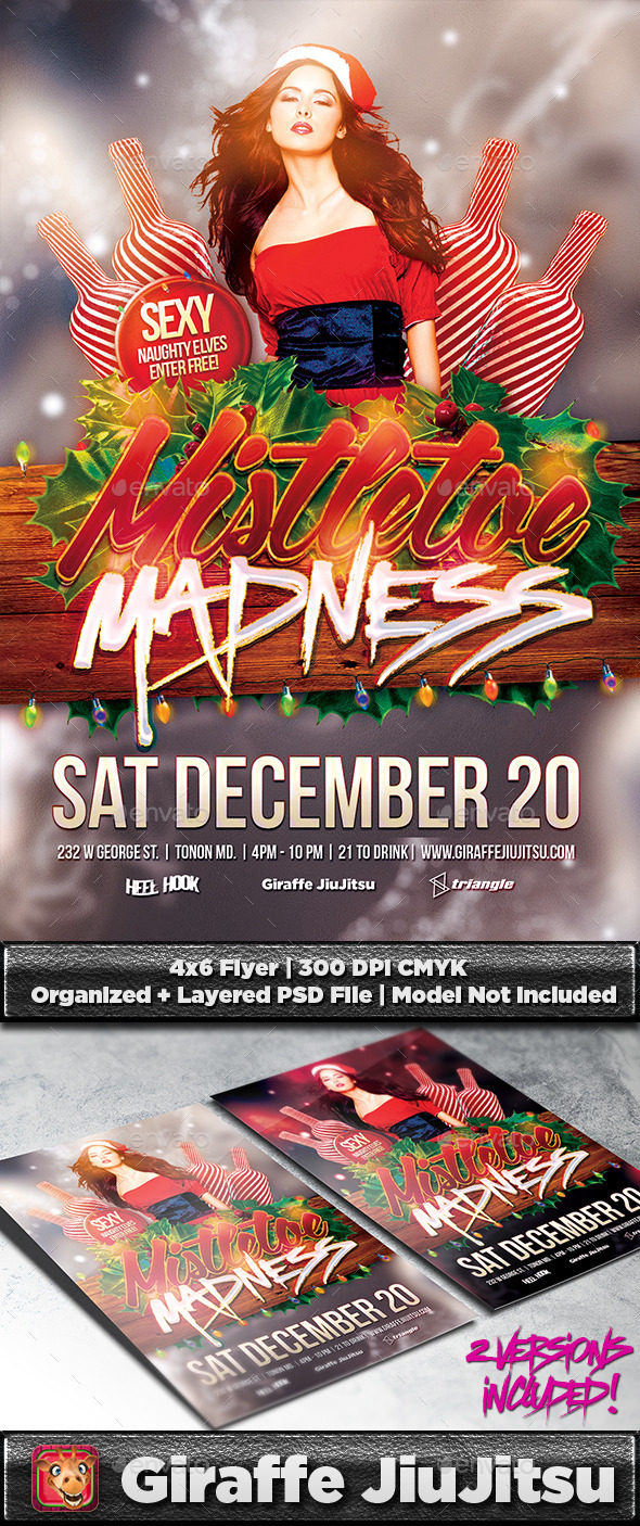 Mistletoe Madness Flyer Template - Holidays Events