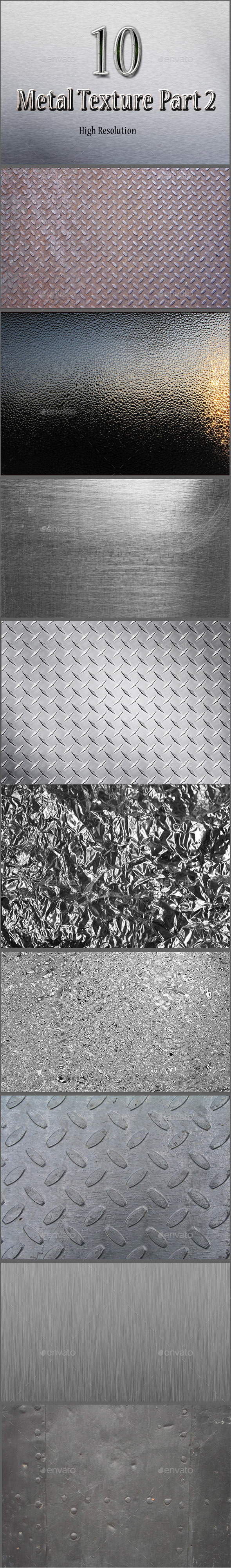 10 Hight Resolution Metal Textured Part 2 - Metal Textures