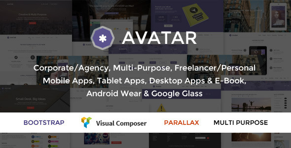 Avatar – One & Multi Page Parallax WordPress Theme
