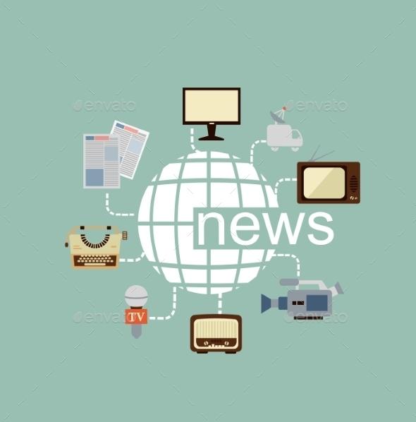 Journalist Illustration - Web Technology