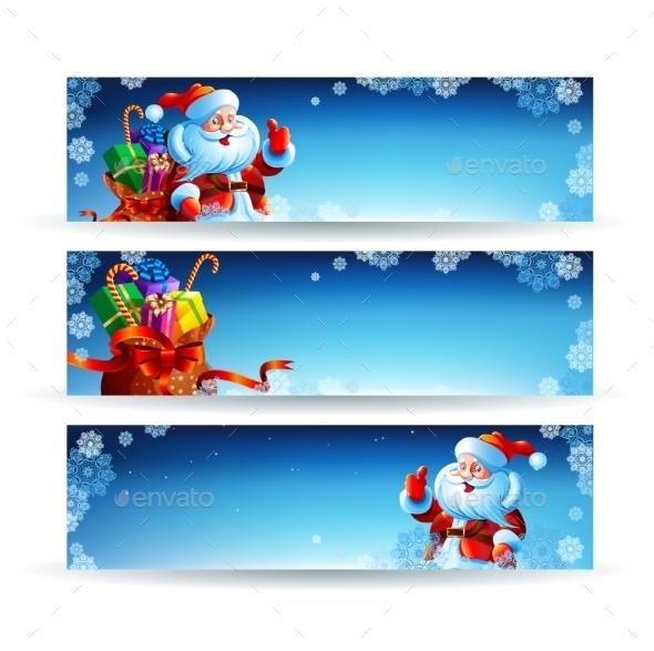 Banner with a Bag of Christmas Gifts - Christmas Seasons/Holidays