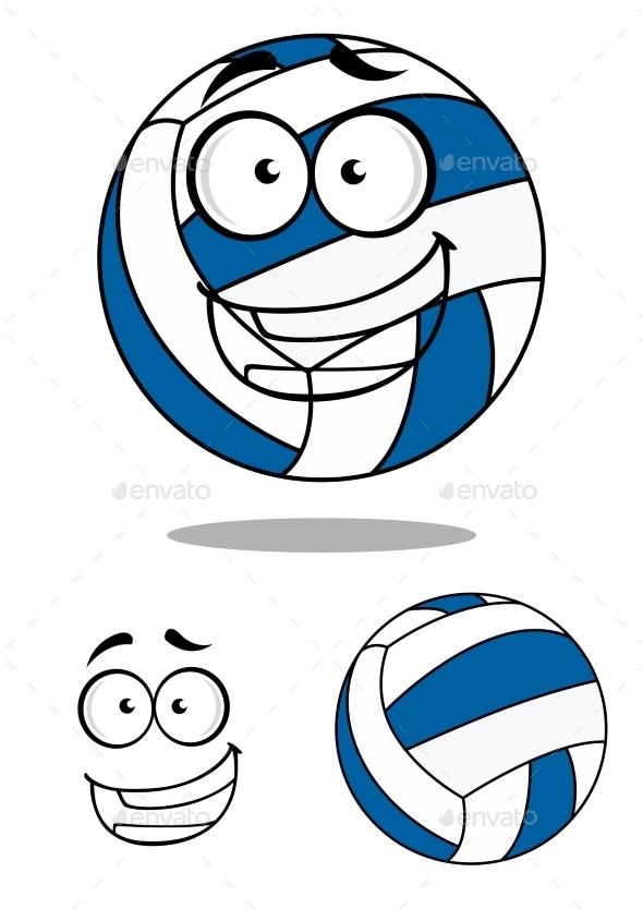 Cartoon Volley Ball - Characters Vectors