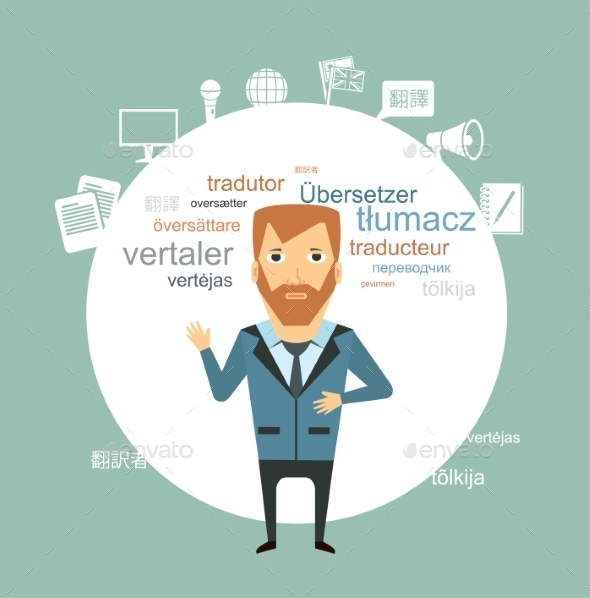 Translator Illustration - Concepts Business