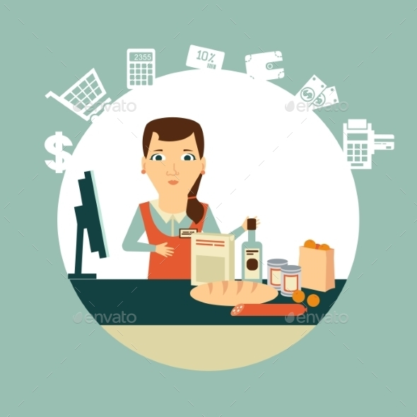 Grocery Store Illustration - Retail Commercial / Shopping