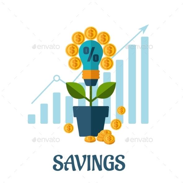 Growing Money Flat Concept - Business Conceptual