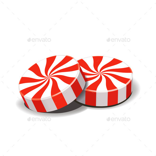 Peppermint Candies - Food Objects