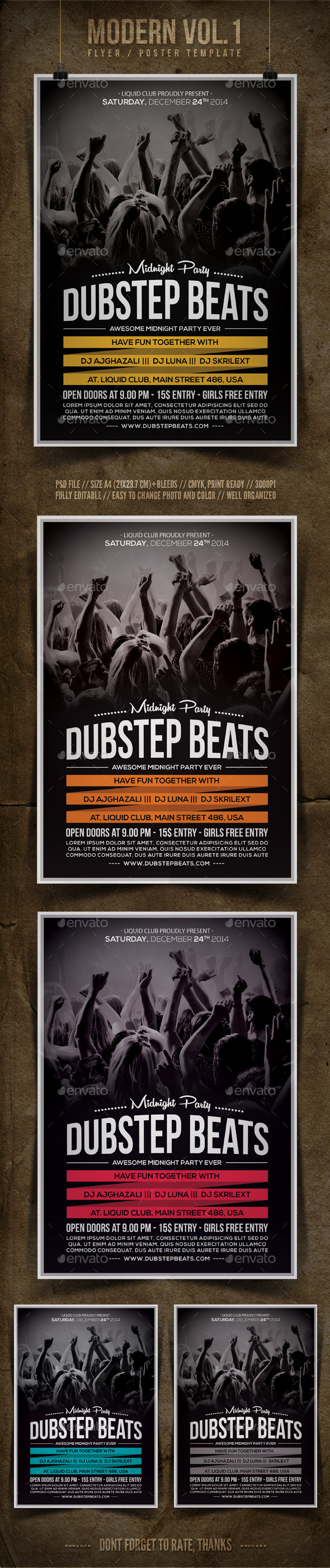 Modern Flyer Template Vol.1 - Clubs & Parties Events