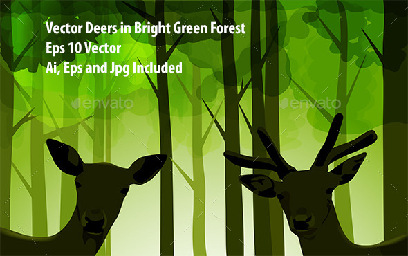 Forest Deers - Animals Characters