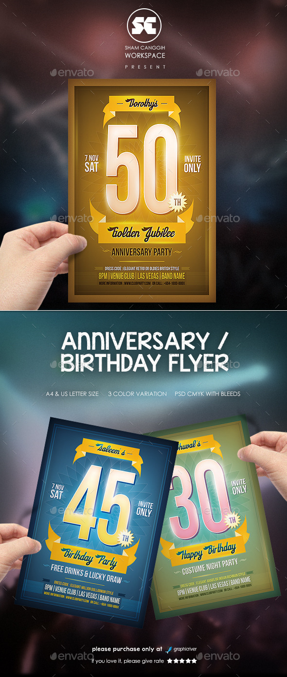 Anniversary / Birthday Flyer - Miscellaneous Events