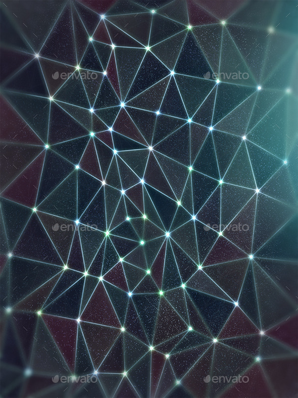 Space Polygon Background - Abstract Backgrounds