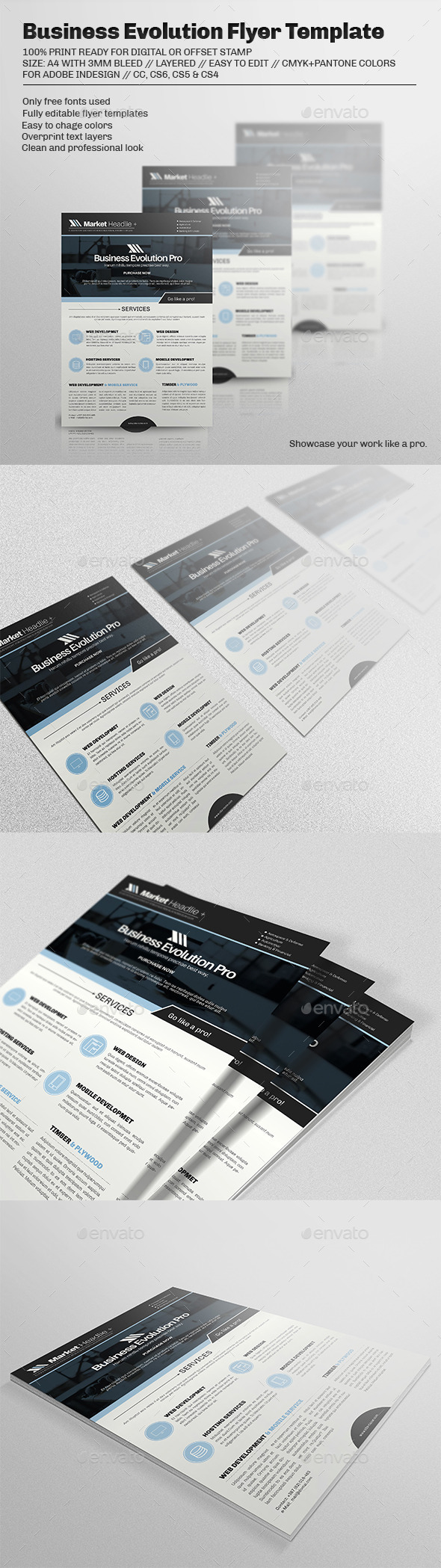 Business Evolution Flyer Template - Corporate Flyers