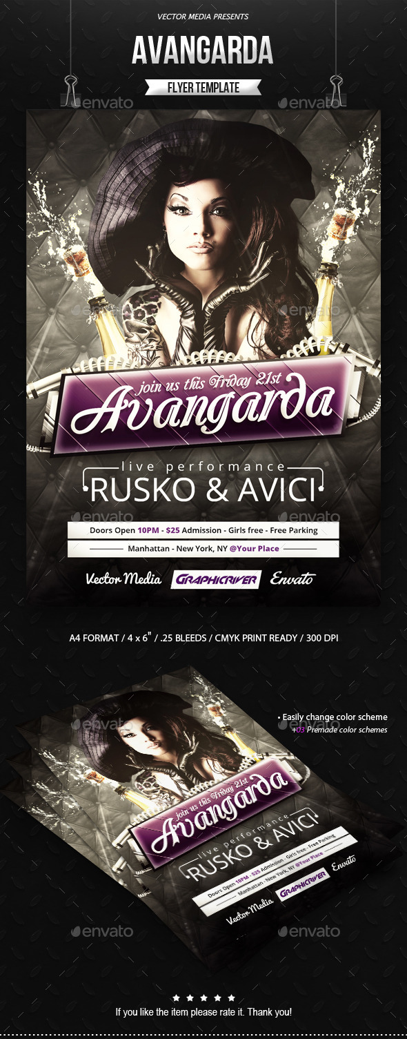 Avangarda - Flyer - Clubs & Parties Events