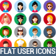 Flat User Icons Set - GraphicRiver Item for Sale