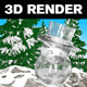 Snowman - 3D Render - GraphicRiver Item for Sale