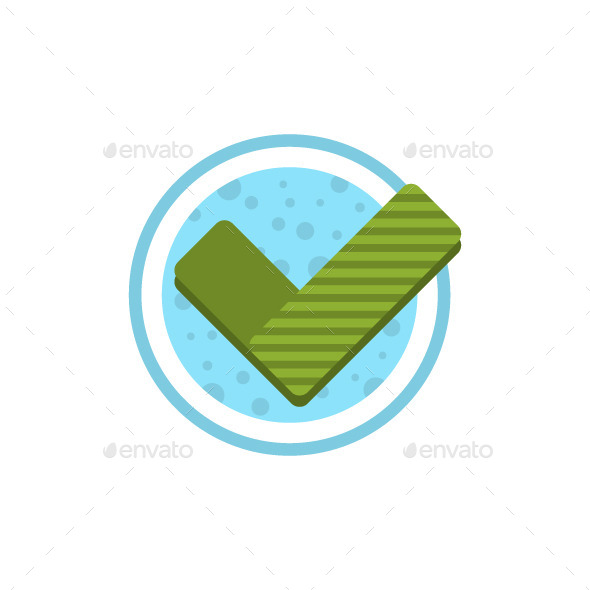 Check Mark Flat Icon - Abstract Icons