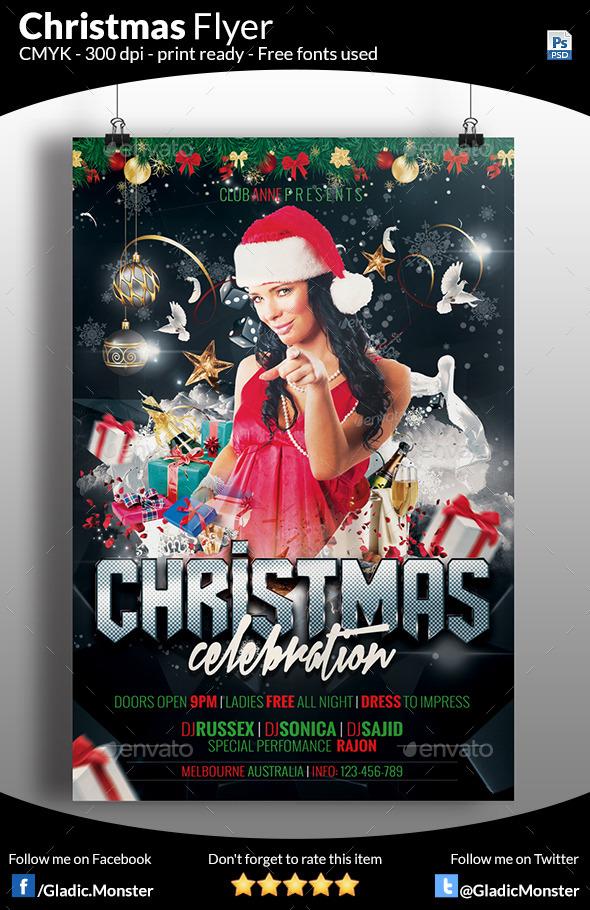 Christmas Celebration Party - Events Flyers