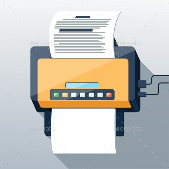 Fax  - Objects Vectors