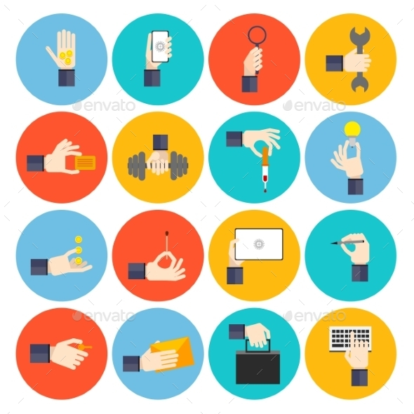 Hand Holding Objects Icons - Objects Icons