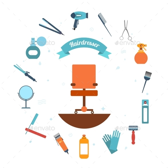 Hairdresser Icons - Decorative Vectors