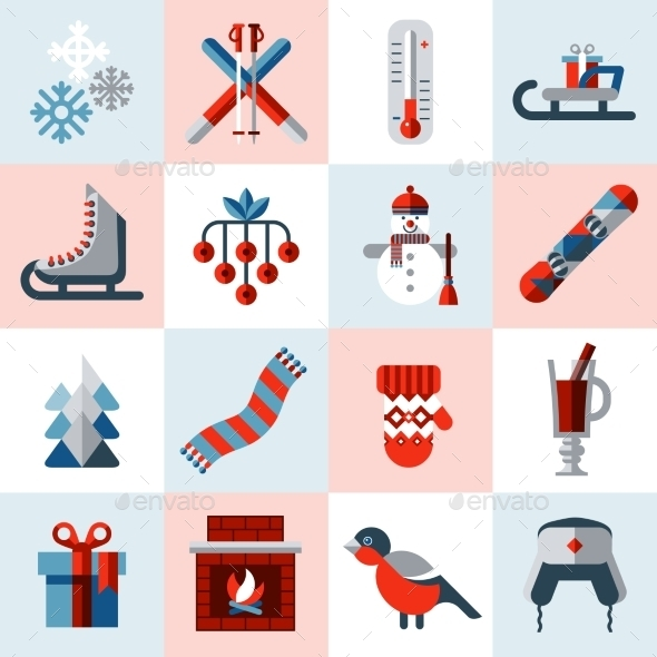 Winter Icons Set - Web Icons