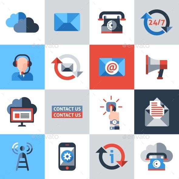 Contact Us Icons Set - Miscellaneous Icons