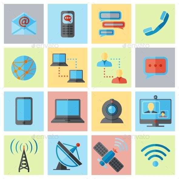 Communication Icon Set - Media Icons