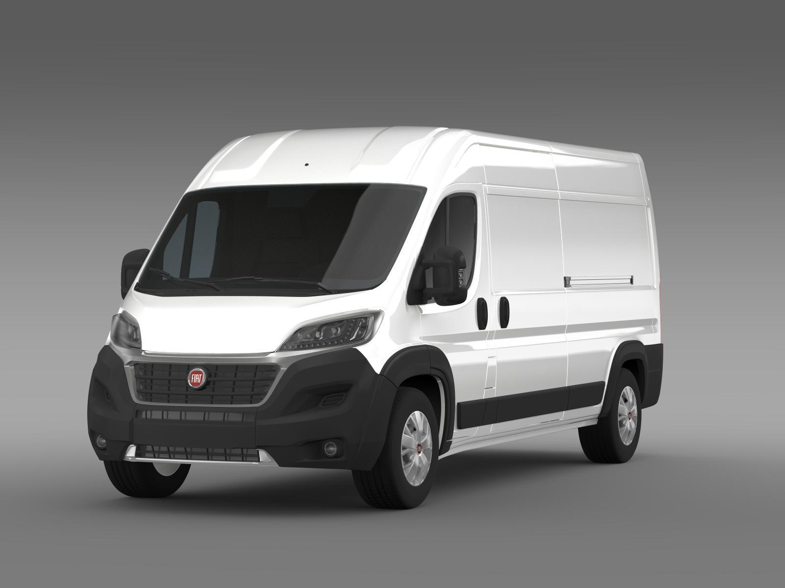 fiat ducato maxi van l3h2 2015 by creator 3d 3docean. Black Bedroom Furniture Sets. Home Design Ideas