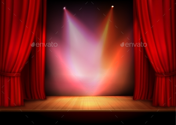 Curtain with Lights - Backgrounds Decorative