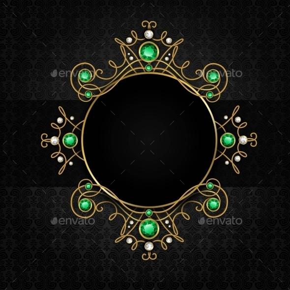 Jewellery Black Frame - Decorative Vectors