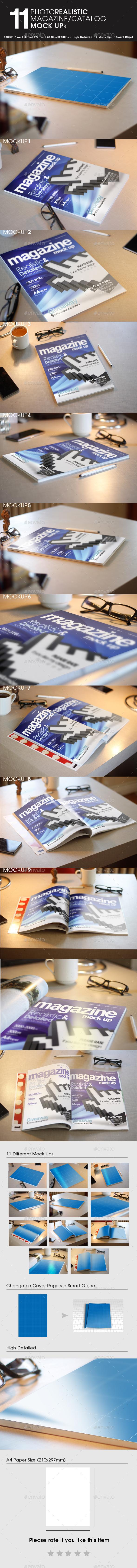11 Photorealistic Magazine  Mock Up - Magazines Print
