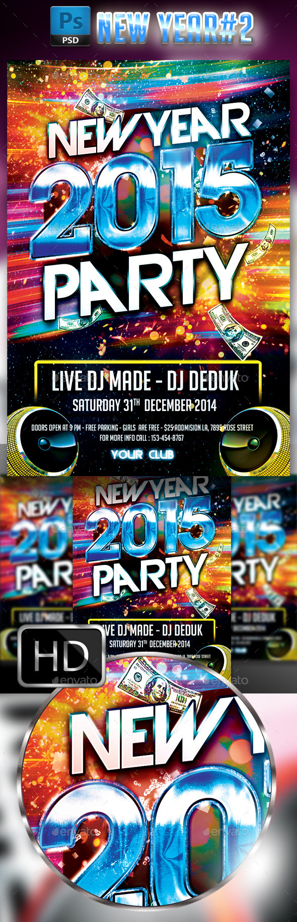 New Year Party #2 - Events Flyers