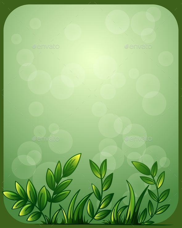 Stationery with Green Leaves - Flowers & Plants Nature