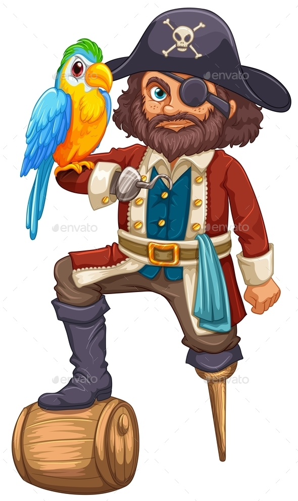 Pirate and Parrot - People Characters