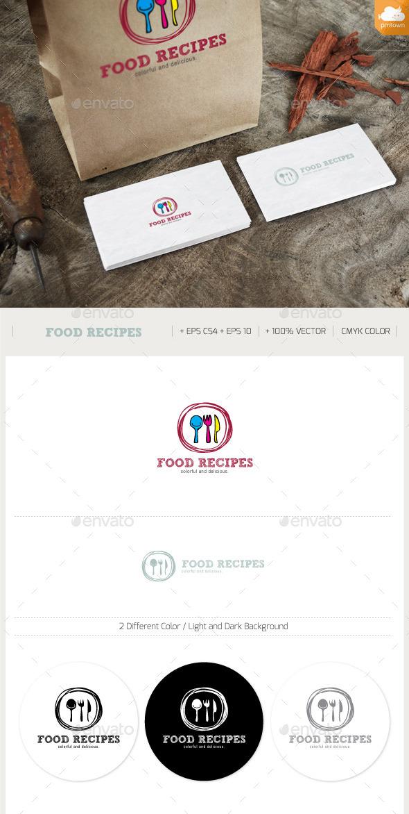 Food Recipies Logo - Food Logo Templates