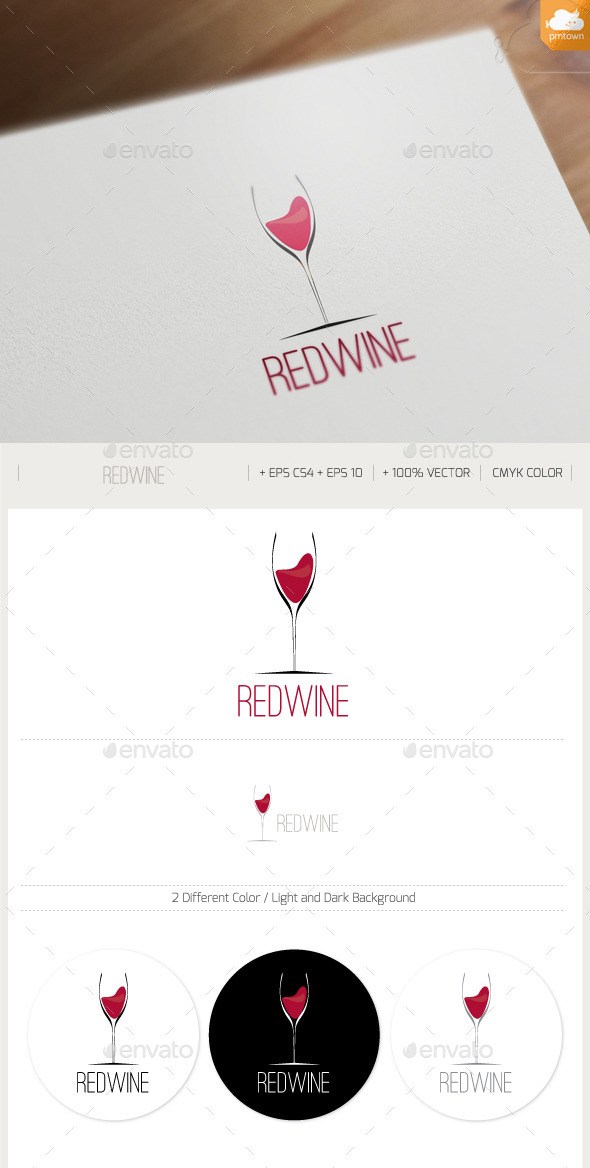 REDWINE - Food Logo Templates