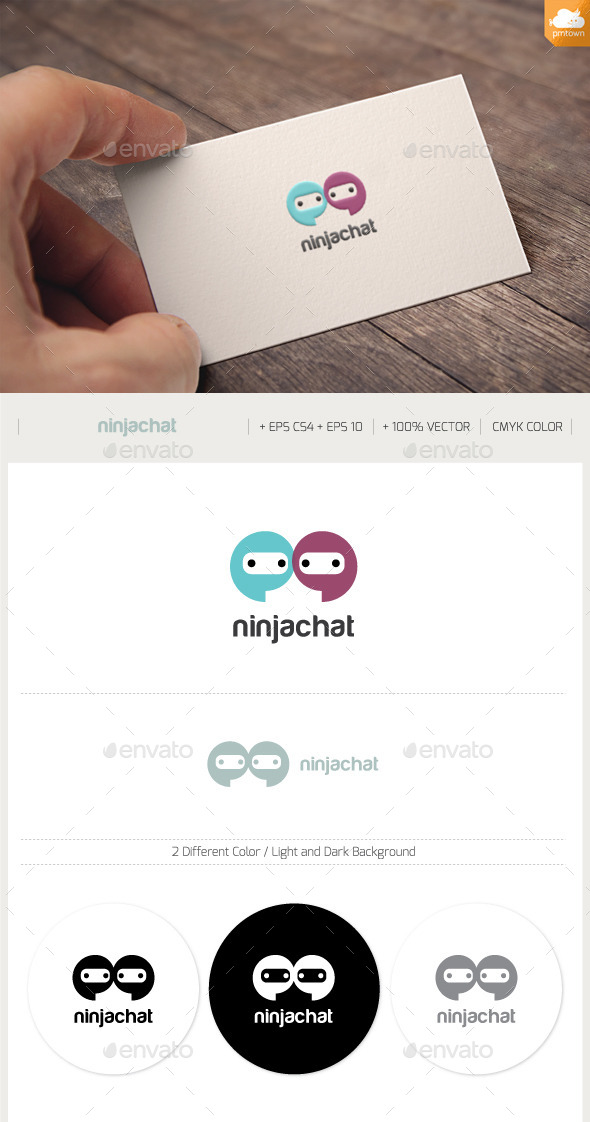 Ninja Chat - Humans Logo Templates
