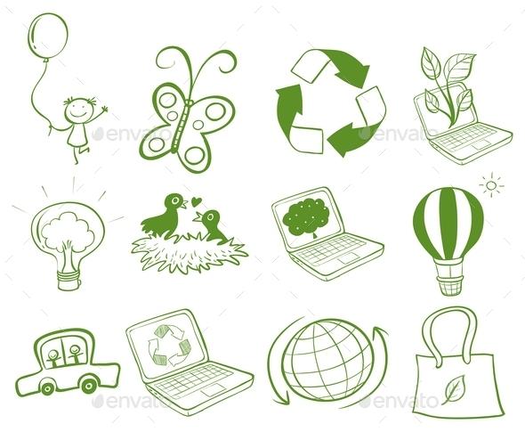 Eco-Friendly Designs - Miscellaneous Vectors