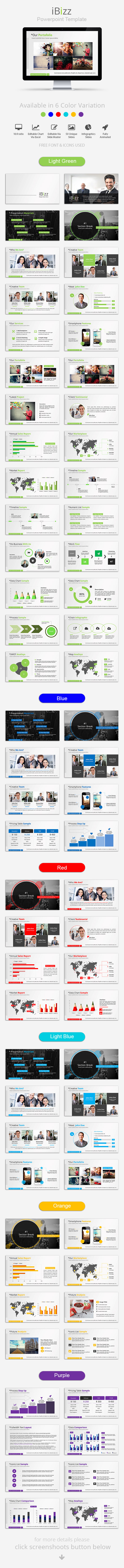 iBizz Powerpoint Template - Business PowerPoint Templates