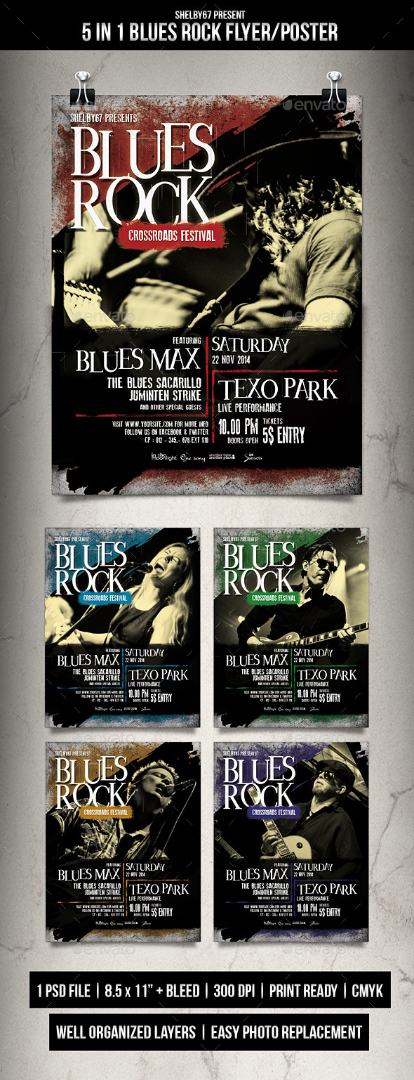 Blues Rock Flyer / Poster - Events Flyers