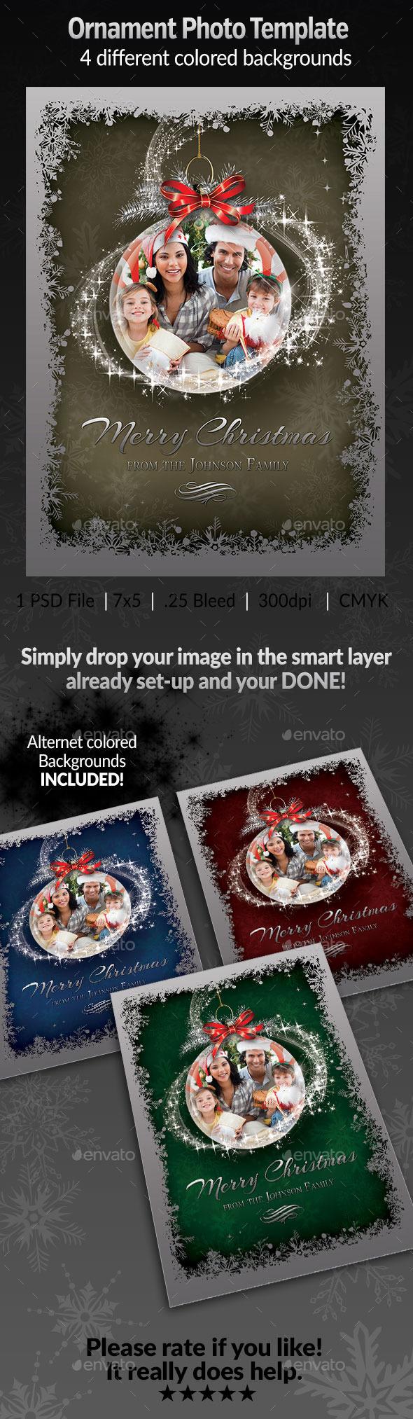 Ornament Photo Template - Seasonal Photo Templates