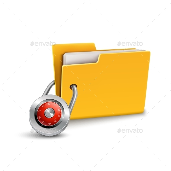 Folder with Lock - Abstract Conceptual